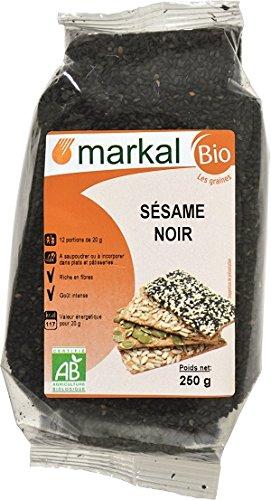 Semillas de Sésamo Negro Bio - Sésamo Negro Crudo   250g   Markal