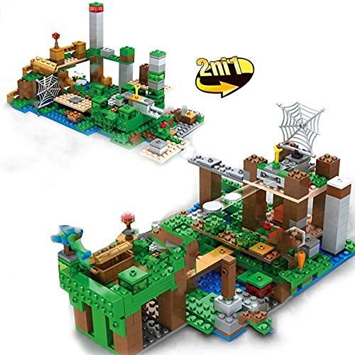 HYLL Bloques de construcción Mine Mountain Organ Building Blocks Sets Diseñador Ciudad Esqueleto Ataque My World Craft The Skull Arena Ladrillos Juguetes para niños