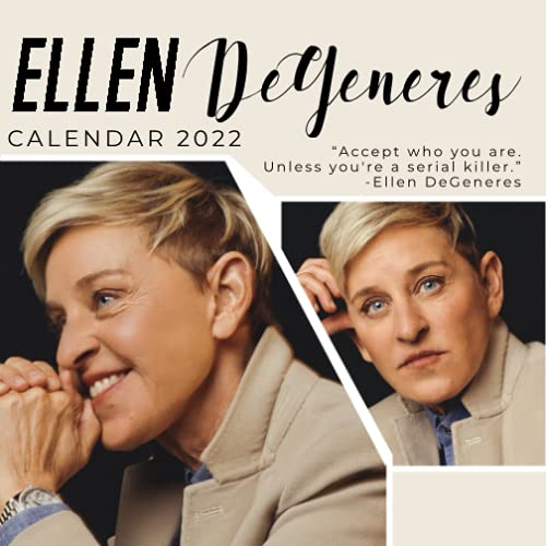 Ellen DeGeneres 2022 Calendar: 18-month Grid Monthly Yearly Calendar for all ages and genders with mini size 7'' x 7''
