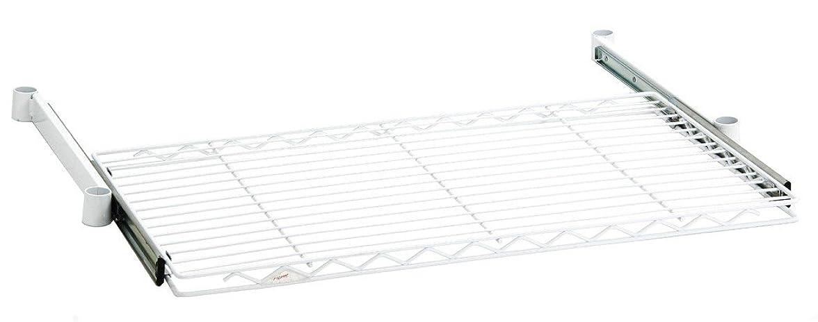 役に立たない環境保護主義者正午ホームエレクター スライディングシェルフ ホワイト D450mm×W600mm  HSL1824W