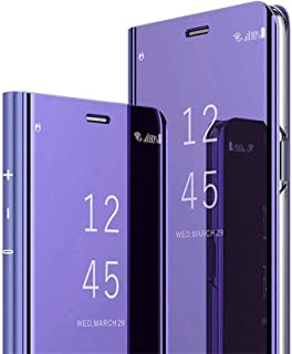 HMTECHUS Huawei Honor 20 Case Luxury Bookstyle Clear View Window Electroplate Plating Stand Scratchproof Full Body Protective Flip Folio Ultra Slim Cover for Huawei Honor 20
