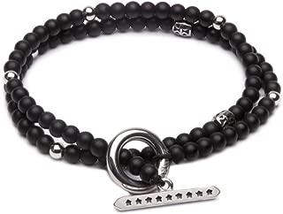 ZENGER Jewelry Edinburgh Double Wrap Beaded Bracelet - Matte Black Onyx, 5mm, Stack