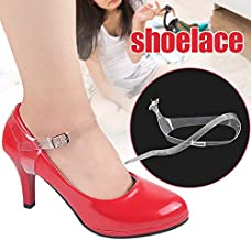 Leorealko Transparent Shoe Straps Detachable Shoe Straps ,Shoe Heels Instant Strap 1 Pair Women Transparent Shoe Straps High Heels Shoelace Accessories