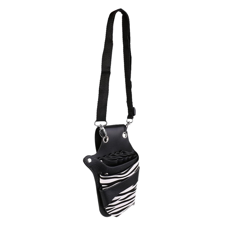 Kesoto サロン 櫛/はさみ/クリップ ホルダー 革レザー 収納パッグ ポーチ ウエストショルダー 美容ツールバッグ