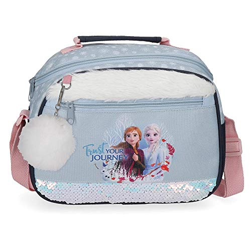 Disney Neceser Frozen Trust Your Journey Adaptable a Trolley con Bandolera, Azul, Única