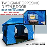 The Original-Authentic Standing Room 4-person Cabin Tent 8.5 FEET OF HEAD ROOM 2 or 4 Big Screen Doors Fast Easy SetUp,Fits Most 10x10 STRAIGHT Leg Canopy,FULL TUB STYLE Floor CANOPY FRAME NOT INCLUDED!