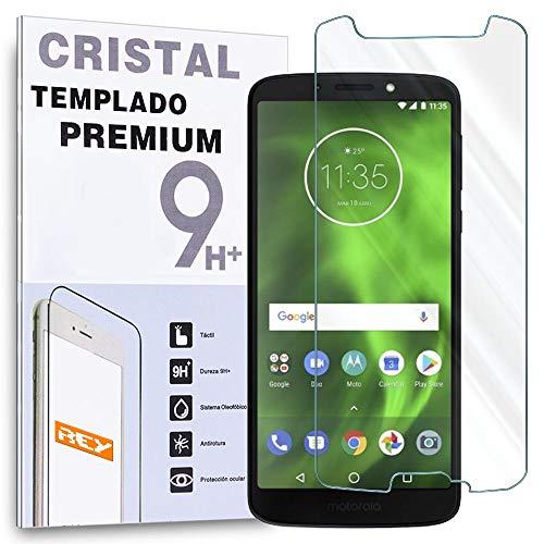 REY - Protector de Pantalla para Motorola Moto G6, Cristal Vidrio Templado Premium