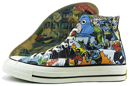 Converse Chuck Taylor All Star High '70 x DC Comics Batman Black Print Comics 155359C 'Inkl. Gummi Sammleretikett, das im Dunkeln leuchtet' Limited Edition (9.5 UK · 43 EU · 28 cm)