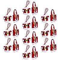 La taglia della giacca: 13 x 10 cm. Materiale: poliestere. Applicazione: stoviglie.Può essere usato come una celebrazione di calze e tratta borse per Natale. Set di 20 decorazioni da tavola colorate e meravigliosamente dettagliate. Misura del tubo: ...