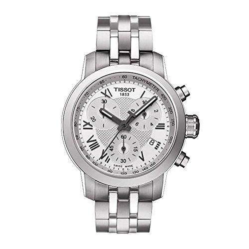 Tissot Herren-Armbanduhr T-Sport T055.217.11.033.00 Silber, Edelstahl, Schweizer Chronograph