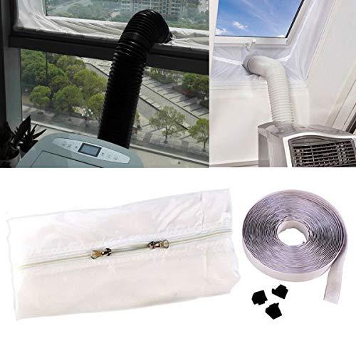 NO LOGO LIU-Shun-BAO 4 Mt Window Lock Seal Tuch Streifen Lufttrockner Auspuffrohr Wärmedämmfolie for Tragbare Mobile Klimaanlagen Outlet Teile