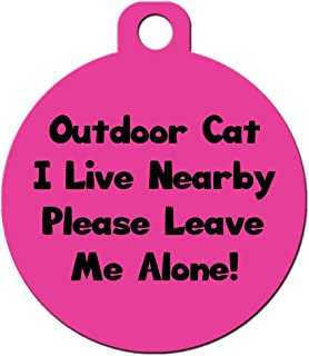 Big Jerk Custom Products Ltd. Cat Pet ID Tag - Customize Colors and Personalize Back of Tag with 4 Lines of Text