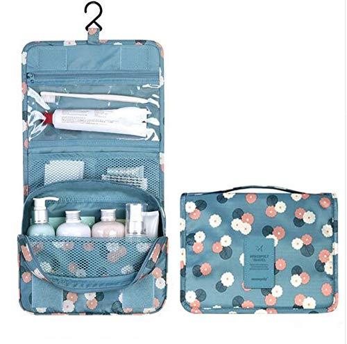 FIFY Trousses à Maquillage Mode Pliant Voyage Femmes Sac cosmétique Trousse de Toilette Pendaison Maquillage Organisateur Pochette Sacs de Lavage, 24 * 18 * 9cm