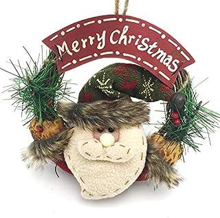 B•You Corona de Navidad,Guirnalda Artificial Navidad con Merry Christmas Reutilizable Decoración de