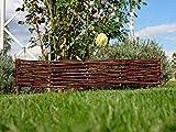 Palissades en Osier - Cadre de lit - Clôture en Osier - Bordure de pelouse - Palissade - Produit UE (100x10/20 cm)