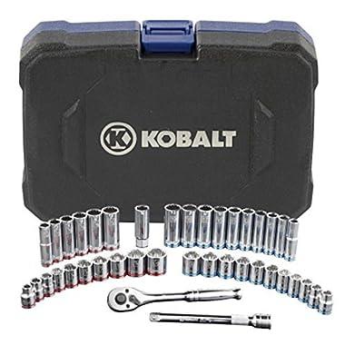 Kobalt 40-Piece Standard and Metric Mechanics Tool Set with Hard Case