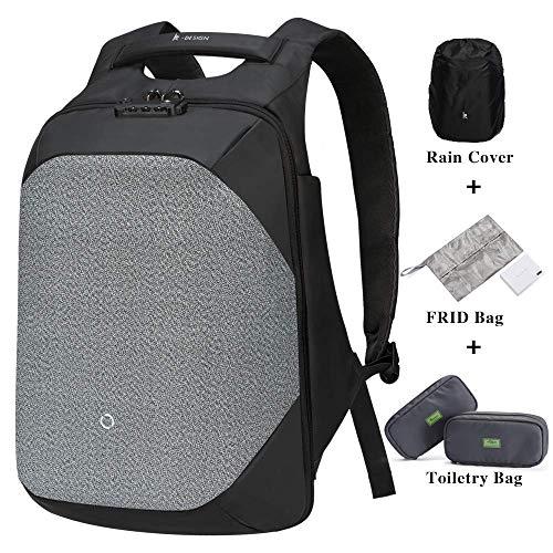 KORIN ClickPack Pro-Anti-diebstahl Laptop Rucksack mit USB Ladeanschluss Wasserdicht Business Taschen Rucksäcke für Herren Damen Arbeit Reisen Schule bis zu 15,6 Zoll Notebook/Computer