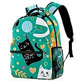 Mochila escolar personalizada para niños y niñas, color verde