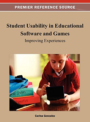 Compare Textbook Prices for Student Usability in Educational Software and Games: Improving Experiences 1 Edition ISBN 9781466619876 by Carina Gonzalez,Carina Gonzalez