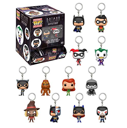 Funko - Porte Clé DC Comics Batman Animated Pocket Pop Blindbags - 1 borsa casuale / one Random bag