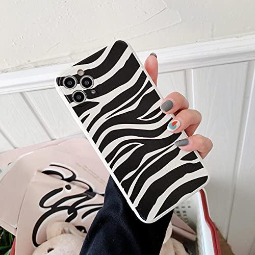 LIUYAWEI Funda de Silicona líquida con Textura de Vaca para iPhone 12 Pro MAX 11 Pro MAX XS MAX XR X 7 8 Plus SE 2020 Cubierta Suave de Borde Recto, T2, para iPhone 12