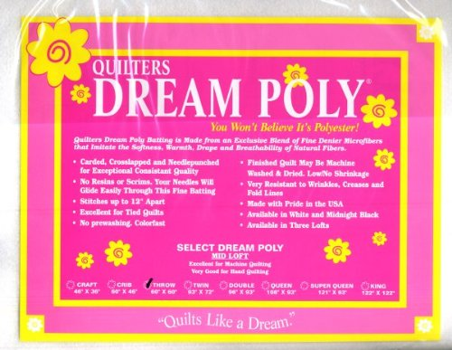 Quilter's Dream Poly Batting - Select -White-Mid-Loft - Twin