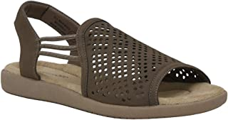 CUSHIONAIRE Women's Hollee Comfort Footbed Sandal with +Comfort