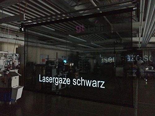 3m x 2m Lasergaze schwarz, zur Auf- Rück- und Durchprojektion mit Laser oder Beamer