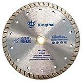 Kingthai 12 Inch Turbo Continuous Rim Concrete Diamond Saw Blade with 1'-7/8' Arbor for Masonry Stone