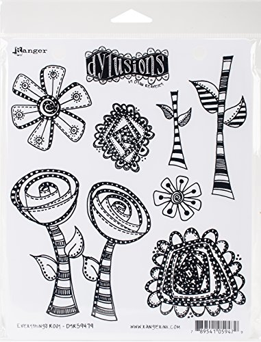 Ranger Everything's Rosy Dyan Reaveley's Dylusions Cling Stamp Collections, 8.5'x7'