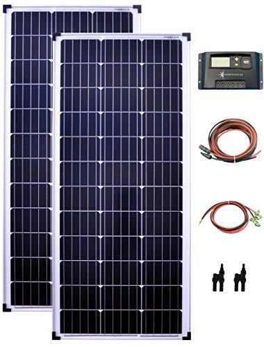 200Watt 12Volt Solar Set Solaranlage Inselanlage Garten Camping...