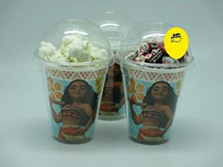 Set of 8 - Moana Party Cups, Popcorn Cups, Goody Bags, Favor Boxes