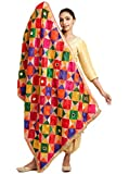 Multicolor Phulkari Dupatta for Women with Mirror Work Free Size Dupatta that is 2.30 Meters Long and 44 inches wide Neat & Clean Phulkari Work, Dupatta Weighs More Than 600 Grams A Quality Product by The Home Factory Dry Clean Recommended