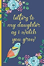 Letters to my daughter as I watch you grow: Blank Journal, A thoughtful Gift for New Mothers,Parents. Write Memories now ,Read them later & Treasure this lovely time capsule keepsake forever,Bird