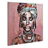 Grandes impresiones en lienzo foto de arte de pared para el hogar pinturas al óleo de niña negra afroamericana pintadas en 3D coloridas mujeres indias modernas
