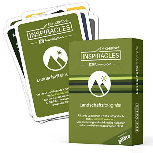 Foto Aufgaben Landschaftsfotografie - Inspiration & Fotografieren Lernen mit 52 Aufgabenkarten, Edition Landschaft und Natur, in Pappschachtel