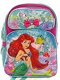 Disney The Little Mermaid Ariel 16' Canvas Pink & Blue Backpack