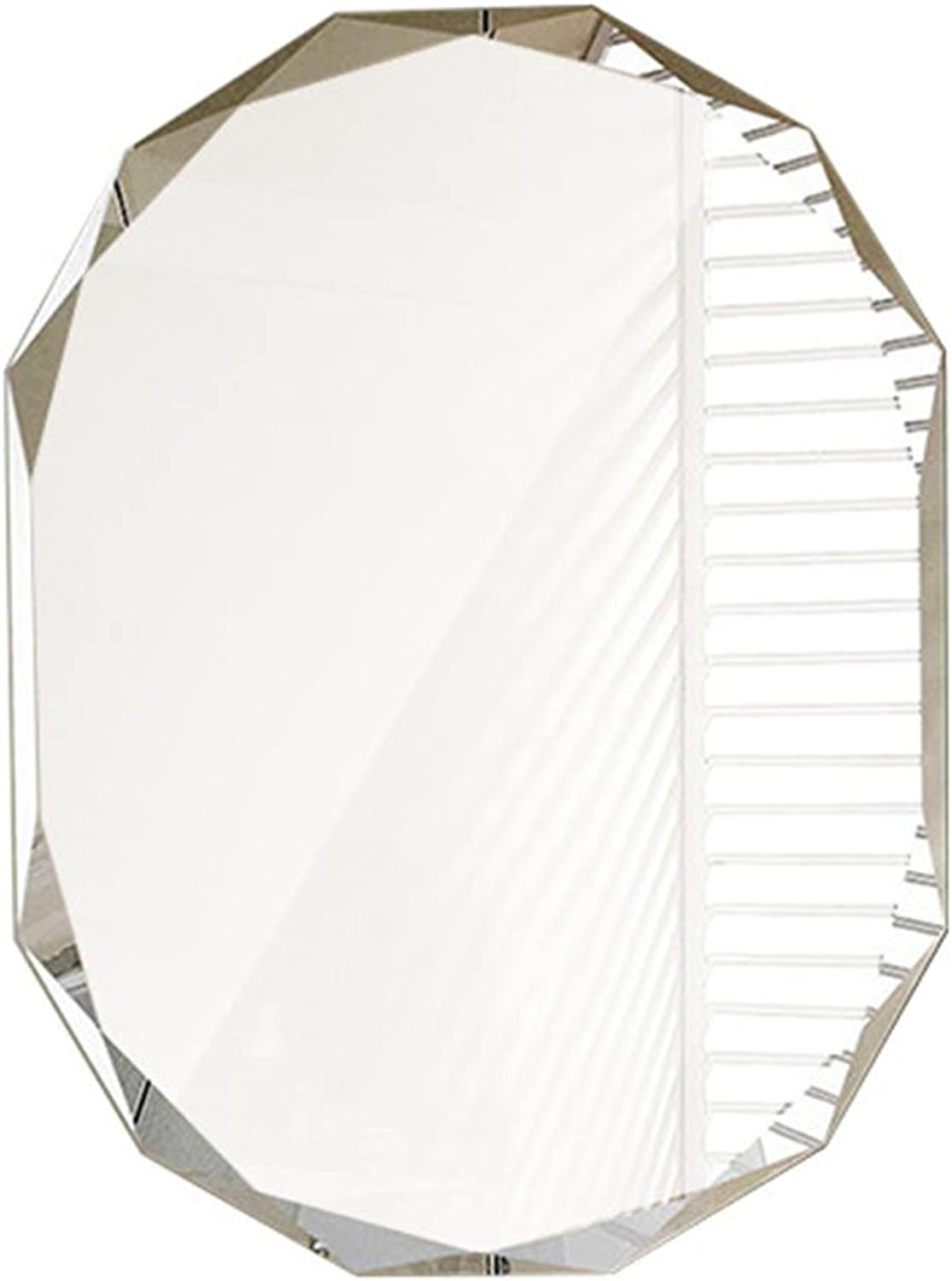 Mirror Hanging on The Wall, Horizontal Bathroom Wall Mirror Dressing Table Mirror Creative Living Room Mirror Entrance Mirror Home Makeup Mirror (color   Silver, Size   45  60cm)