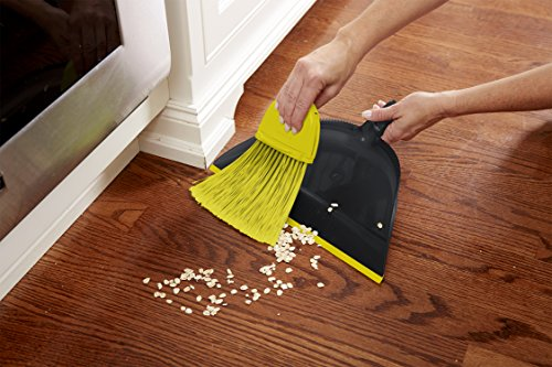 Casabella 86012 Height Adjustable Duster Broom with Dustpan