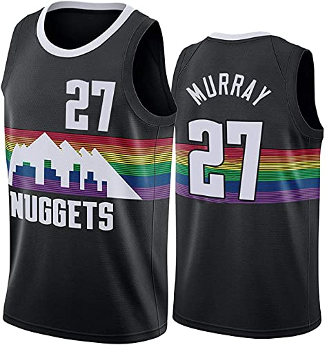 WEIZI Denver Nuggets # 15 Nikola Jokic Basketball Jersey Sports Chalecos Tops Camisetas Sin Mangas,Negro,M