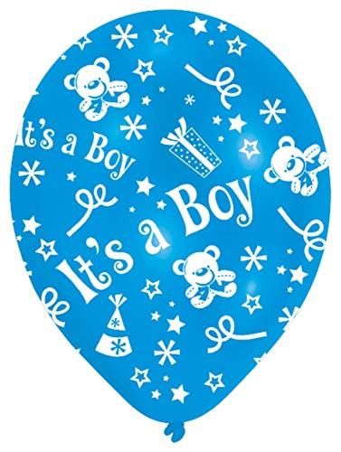 amscan Latexballons Globaldruck It's a Boy, Blau