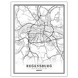 Bild Auf Leinwand,Moderne Schwarz Weiß Karte Europa Poster
