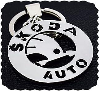ميدالية مفاتيح سكودا من الفولاذ المقاوم للصدأ