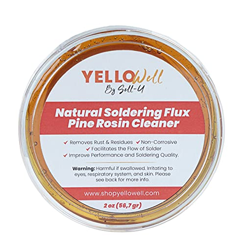 Natural Soldering Flux Pine Rosin Cleaner - Electrical & Electronic Repairs - (2 oz)