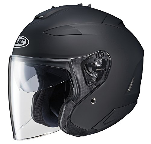 HJC IS-33 II Open-Face Motorcycle Helmet (Matte Black, X-Large) (874-615)