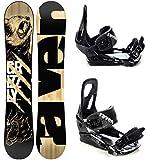 Raven Snowboard Set: Snowboard Grizzly + Bindung s200 (168cm + s200 Black M/L)