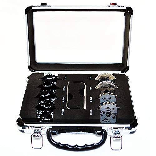 Set met 8 zaagbladen in koffer voor mini cirkelzaag Passat MINISCIE01SET