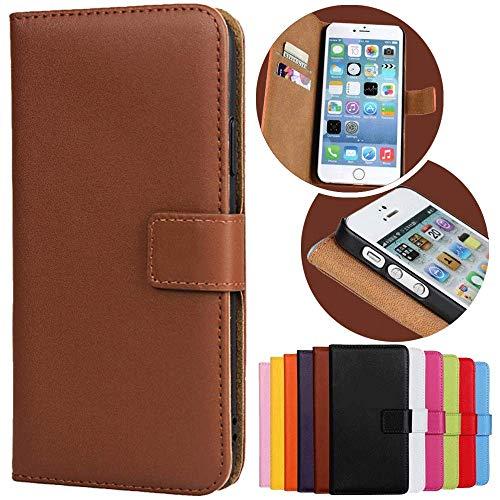 Roar Handy Hülle für Sony Xperia Z1, Handyhülle Braun, Tasche Handytasche Schutzhülle, Kartenfach & Magnet-Verschluss