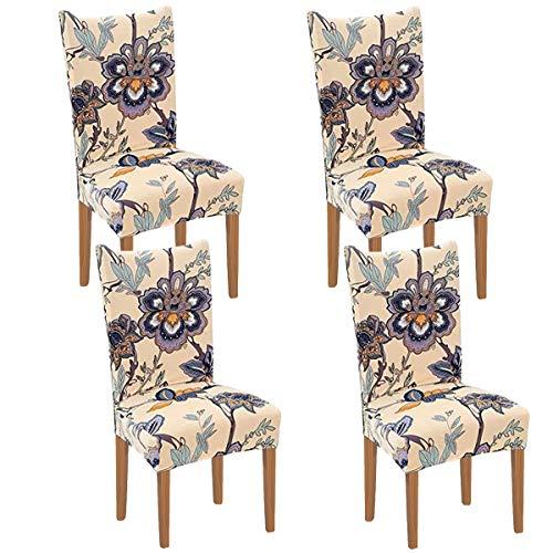 XIANYU - Fundas para sillas de comedor, fundas elásticas para sillas de comedor, fundas extraíbles para sillas de comedor, hotel,...