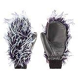 Zanier W Fashion Mitten Blau-Lila-Weiß, Damen Daunen Fausthandschuh, Größe 7.5 - Farbe Black
